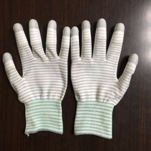 ESD Carbon Fiber Gloves PU Fit Coated pictures & photos