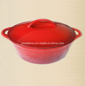 Enamel Finishing Cast Iron Cookware Casserole Size 27X21.5cm pictures & photos