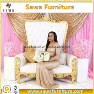 Saw Furniture Wholesale Wedding Sofa Double Seater Chair pictures & photos
