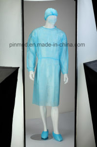 Disposable PP+PE Isolation Gown pictures & photos