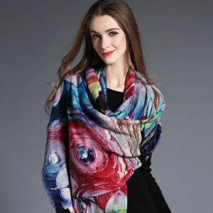 Digital Printing, Woolen Scarf W7078 pictures & photos