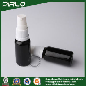 20ml Black Lightproof Glass Spray Bottles with White Fine Pump Sprayer pictures & photos