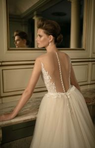 2017 off-Shoulder Three-Quarters Overskirt Sweep Train Mermaid Wedding Dress (Dream-100043) pictures & photos