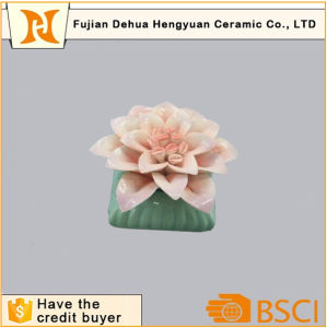 High Quality Ceramic Perfume Bottle with Flower Cap pictures & photos