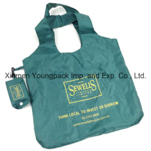 Eco-Friendly Lightweight Nylon Foldable Reusable Grocery Shopper Tote Bag pictures & photos