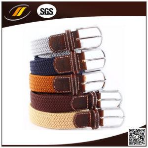 Hot Sale Women Jeans Fabric Braided Stretch Belt (HJ5113)