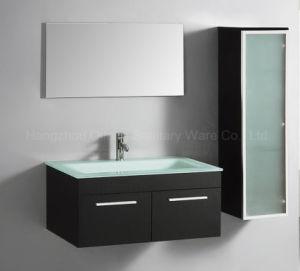 Glass Door MDF Bathroom Cabinet with Side Vanity pictures & photos