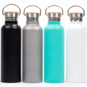 FDA BPA Free 500ml Single Wall Wood Lid Stainles Steel Sports Water Bottle pictures & photos