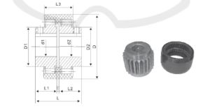 Nl1 Gear Coupling From China Tanso for General Machinery pictures & photos