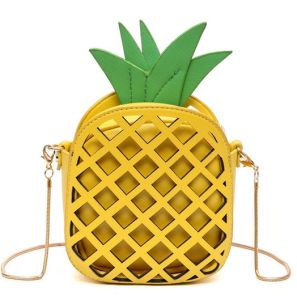 Hot Selling New Styles Pineapple Bags Teen Girl Chain Bag