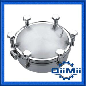 stainless Steel Pressure Round Manway Cover Manhole with Sight Glass pictures & photos