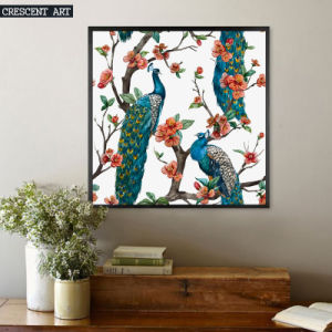 Beautiful Peacocks Oil Painting on Canvas pictures & photos