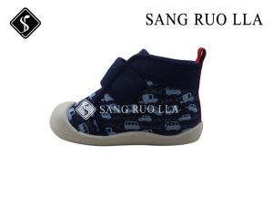 Leisure Shoes with Canvas Stock Kids Shoes pictures & photos