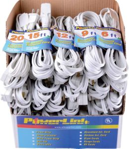 3 Outlets Polarized Indoor Extension Cord 125VAC/625W pictures & photos