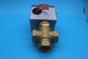 3 Way Johnson Controls Mixing Motorized Zone Valve (HTW-V71) pictures & photos