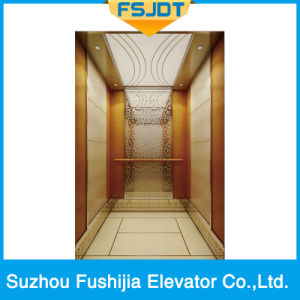 Luxurious Passenger Elevator with Marble Floor (FSJ-K25) pictures & photos