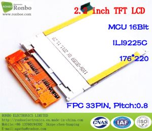 "2.2"" Qcif 176*220 MCU 16bit 33pin Industrial TFT LCD Panel pictures & photos"