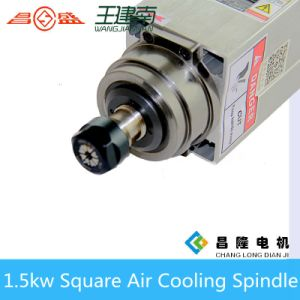 Manufacture 1.5kw Square Air Cooled High Speed Three Phase Asynchronous Spindle Motor for Wood Carving CNC Router pictures & photos