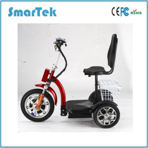 Smartek 3 Wheel Scooter Mobility Electric Scooter for Disabled High Quality Electric Scooter Eac-500-3 pictures & photos