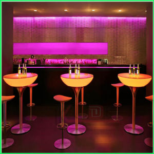 LED Light up Cocktail Tables High Bar Top Tables pictures & photos