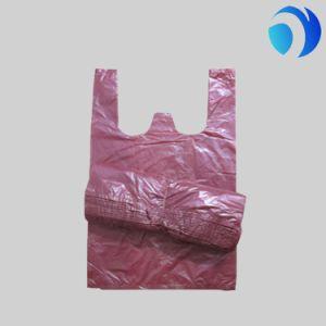 Wholesale Plain Plastic Shopping Handle Bag pictures & photos