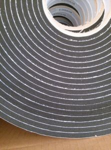6.4mm Black Color Single Sided PVC Foam Tape pictures & photos