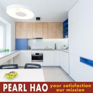 Germany Villa Melamine Kitchen Cabinets White Meet Blue pictures & photos