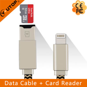 Lightning Data Charging Cable + Microsd OTG Card Reader (YT-RC001) pictures & photos