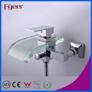 Fyeer Bathroom Waterfall Bath Mixer Faucet with Diverter pictures & photos
