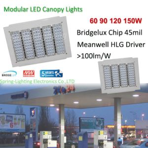 UL Dlc Approved 150W LED Canopy Lights for Petrol Station