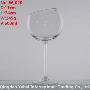 600ml Clear Colored Wine Glass pictures & photos