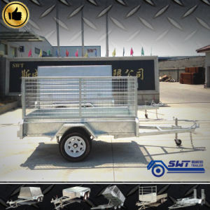 Tilting Cage and One Axle Trailer7X5 (SWT-BT75-L) pictures & photos