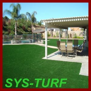 Landscaping Turf Grass with 3 Colors PE Yarn Artificial Grass pictures & photos