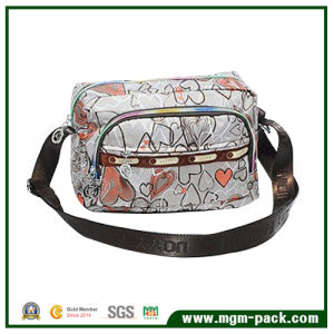 New Lovely Grey Canvas Outdoor Single Shoulder Bag with Patterns pictures & photos