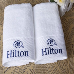 100% Cotton High Quality Terry Towels for Hilton Hotel (DPFT8040) pictures & photos