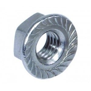 Carbon Steel Hex Flange Nut DIN 6923 pictures & photos