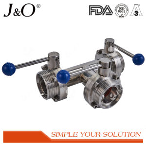 Sanitary Stainless Steel 3way Butterfly Valve pictures & photos