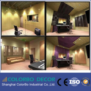 Studio Decoration Soundproof Function Perforated Wooden Acoustic Wallpapers pictures & photos