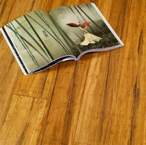 Strand Woven Bamboo Flooring Carbonized Painting UV Lacquer pictures & photos