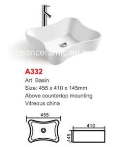 White Irregular Ceramic Basin (No. A332) Sanitary Ware pictures & photos