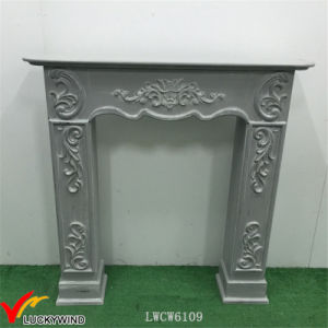 European Style Green Vintage Wood Fireplace Mantel pictures & photos