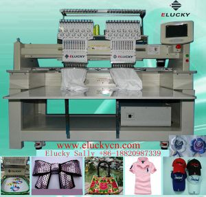 New Computerized Cap Embroidery Machine with 2 Heads & 15 Colors