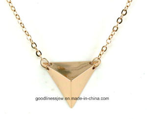 Gold Color Collares Choker New 2015 Fashion Charming Rhinestone Trangle Shape Necklace for Women N6602 pictures & photos