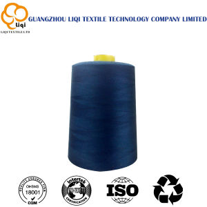 100% Spun Polyester Yarn for Sewing Clothes and Bags pictures & photos
