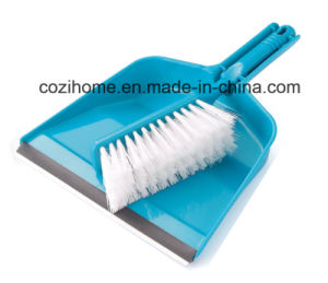 High Quality Plsastic Dustpan with Brush (3416) pictures & photos
