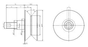 Hpve76, V-Grooved Eccentric Stud, Osborn Design Bearing, Load Runner, Idler-Rollers