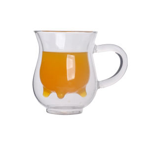 Double Wall Glass Cup with Handle pictures & photos