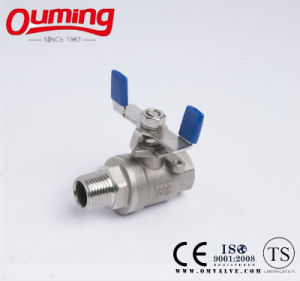 2PC Male Thread Ball Valve with Butterfly Handle pictures & photos