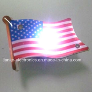 Customized Blinking LED Flag Badges as Businees Promotion Gifts (3161)