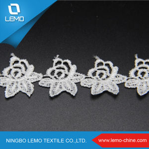 Cotton/ Polyester Water Soluble Fabric Lace pictures & photos